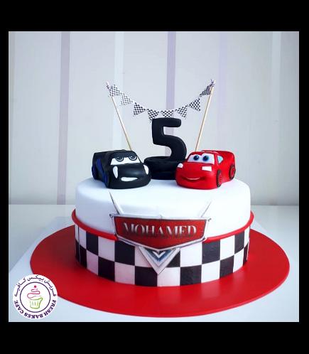Disney Pixar Cars - Lightning McQueen & Jackson Storm Themed Cake