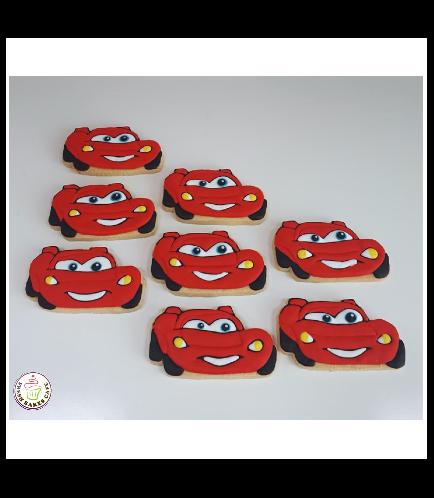 Lightning McQueen Themed Cookies