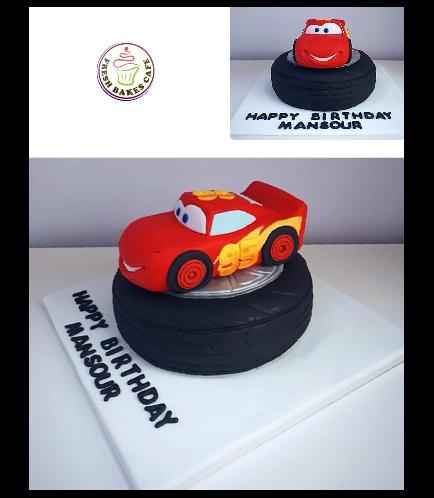 Disney Pixar Cars - Lightning McQueen Themed Cake 01