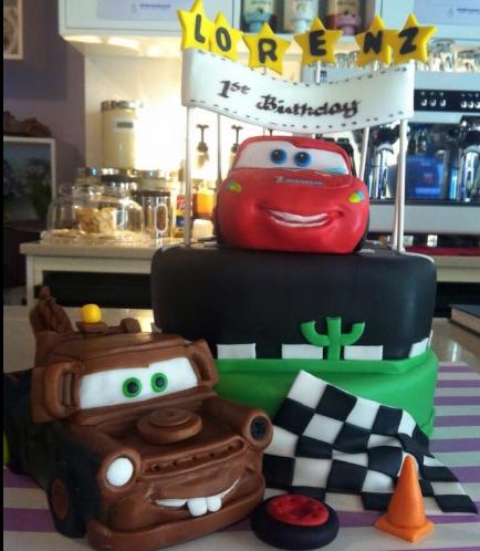 Disney Pixar Cars - Lightning McQueen & Mater Themed Cake 01a