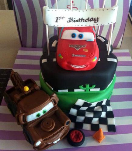 Cake - Disney Pixar Cars - Lightning McQueen & Mater 01b