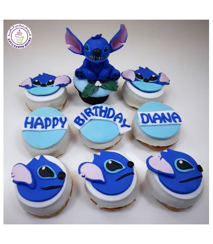 Lilo & Stitch Themed Cupcake & Donuts - Stitch