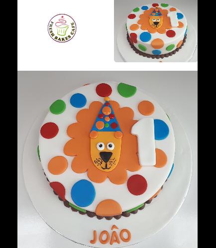 Lion Themed Cake - Picture - 2D Fondant