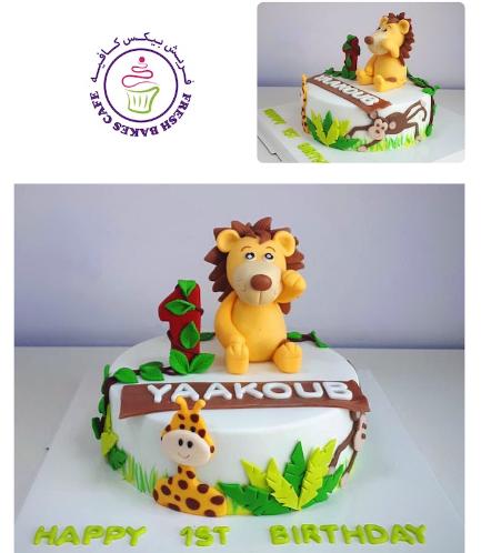 Lion Themed Cake - 3D Cake Topper - 1 Tier 02
