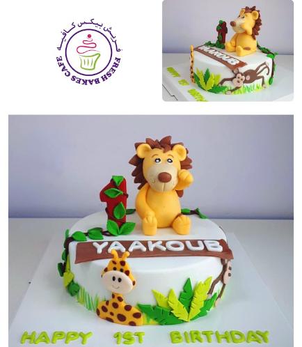 Cake - Lion - 3D Cake Topper - 1 Tier 01