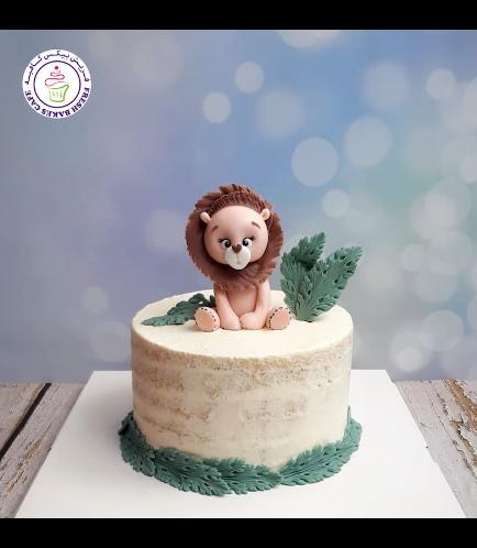 Lion Themed Cake - 3D Cake Topper - 1 Tier 04