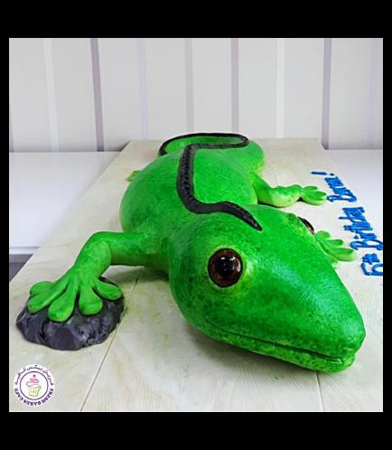Lizard Themed Cake 01a