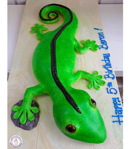 Lizard Themed Cake 01b