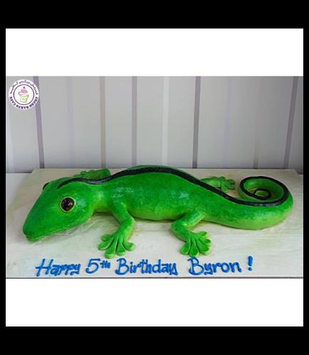 Lizard Themed Cake 01c