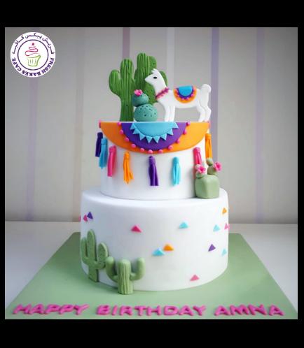 Llama Themed Cake 02