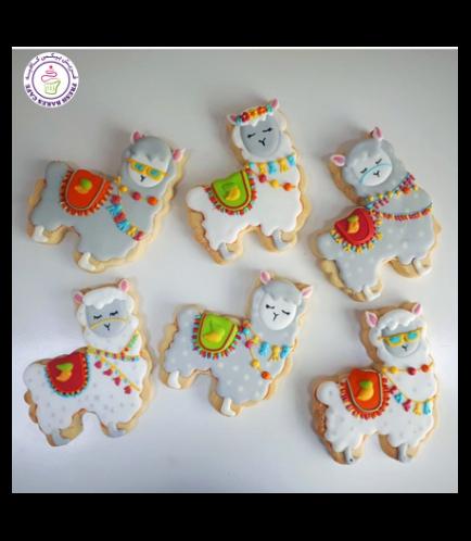 Llama Themed Cookies