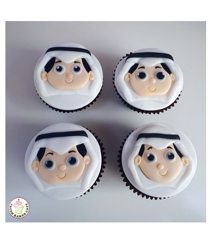 Boy Themed Cupcakes - 2D Font Toppers
