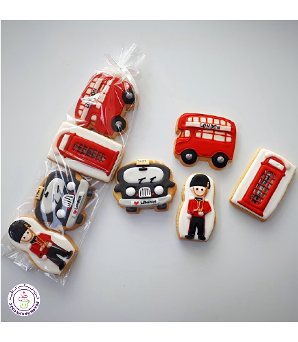 London Themed Cookies - Minis