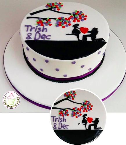 Cake - Man & Woman - Silhouette