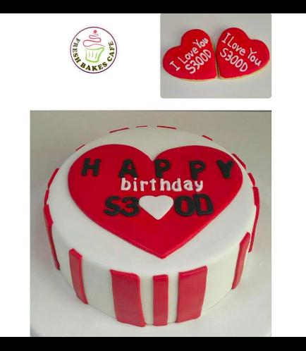 Cake - Heart - 2D Cake Topper 01