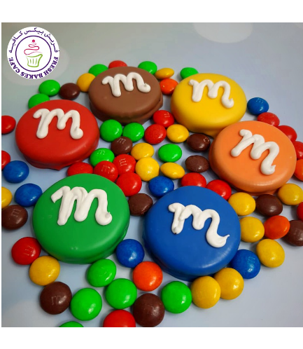 M&M Themed Chocolate Covered Oreos