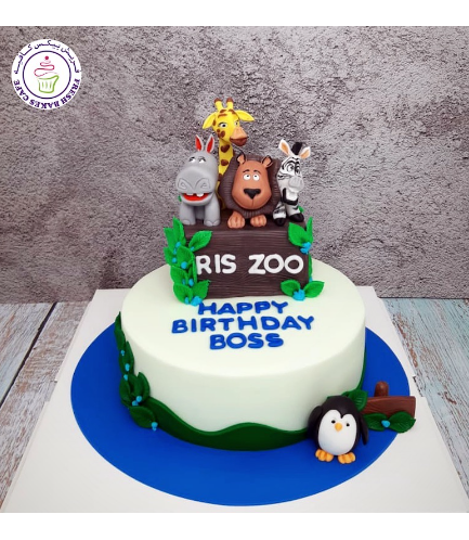 Madagascar Themed Cake