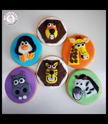 Madagascar Themed Cookies