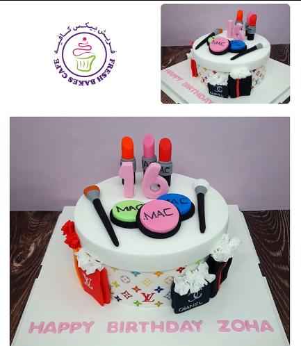 Makeup/Shopping Themed Cake 01 - 8