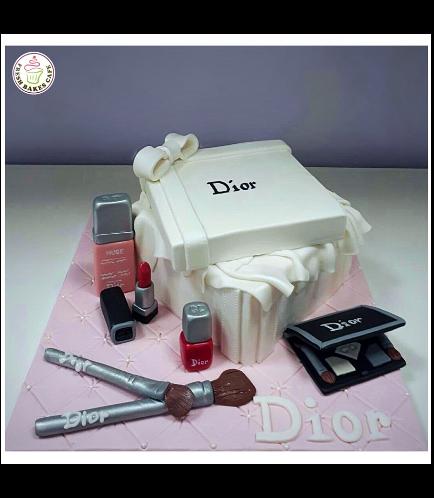 Makeup Themed Cake 08