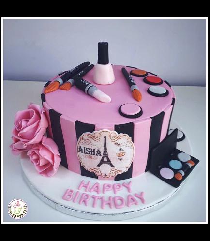Makeup Themed Cake 09