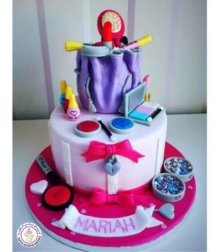 Makeup Themed Cake 3a