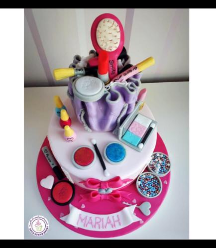Makeup Themed Cake 03b