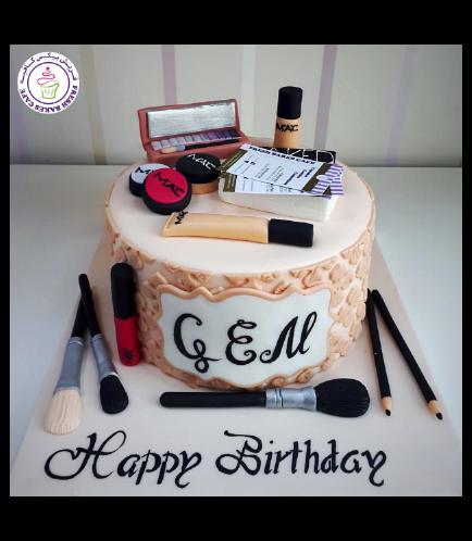 Makeup Themed Cake 16