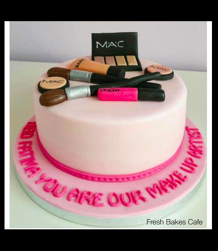 Makeup Themed Cake 02