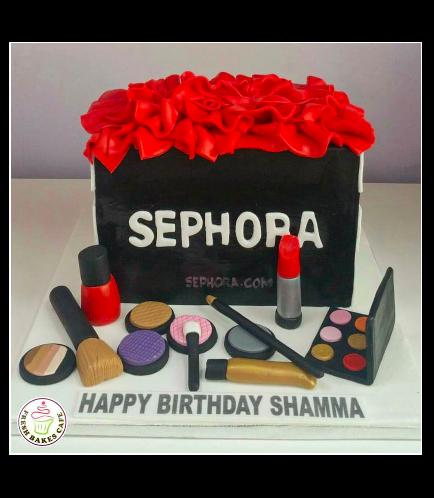 Makeup Themed Cake 05