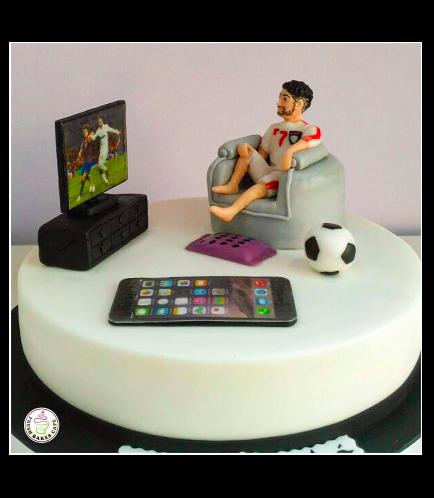 Man Themed Cake - 3D Cake Topper - TV 02