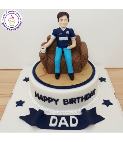 Man Themed Cake - 3D Character - Couch