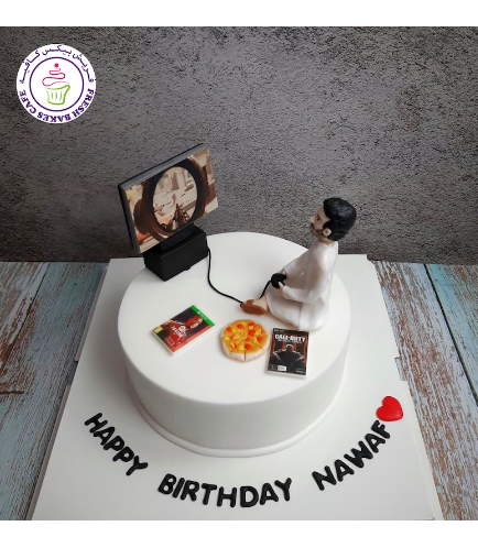 Man Themed Cake - 3D Character - Video Games 04