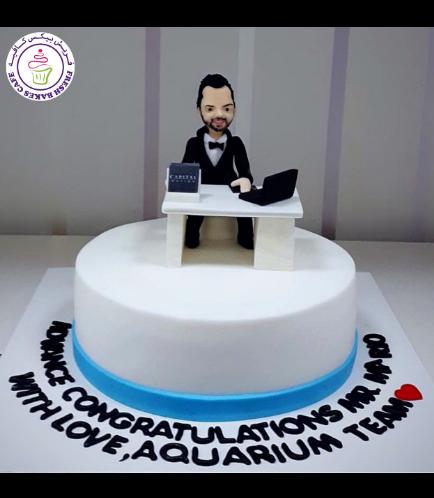 Man Themed Cake - 3D Character - Office Desk
