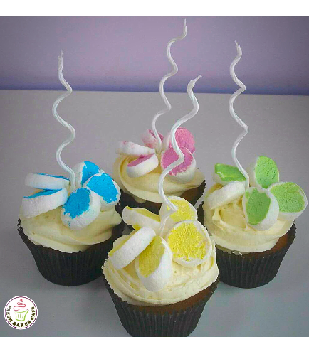 Marshmallow Flower Cupcakes 01a