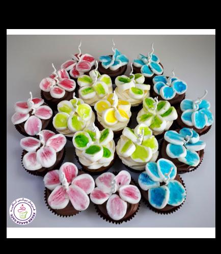Marshmallow Flower Cupcakes 01b
