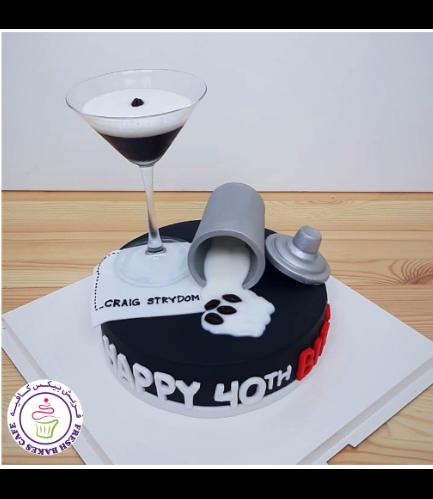 Martini & Coffee Themed Cake