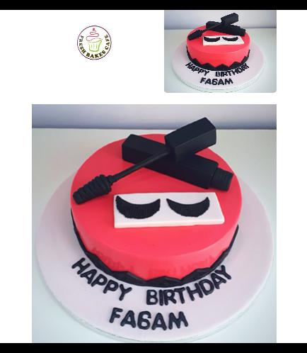 Mascara & Eyelashes Themed Cake