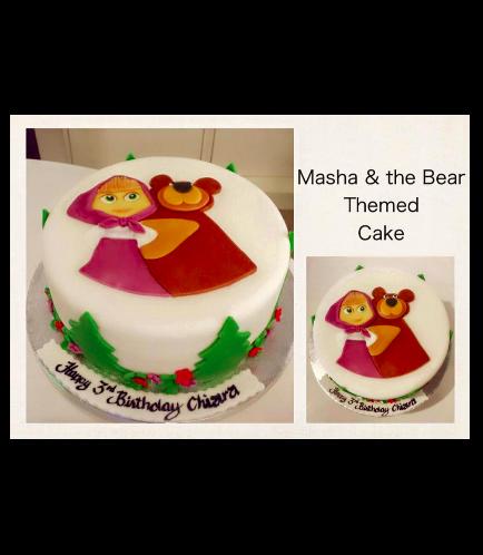 Masha & the Bear Themed Cake 01