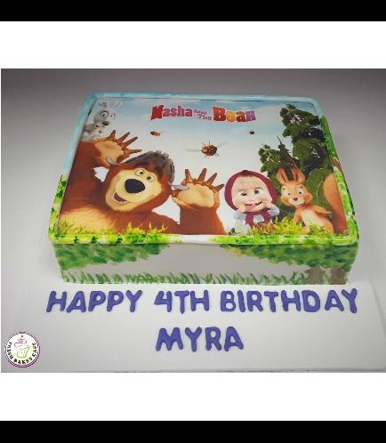 Masha & the Bear Themed Cake 04