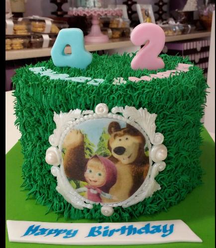 Masha & the Bear Themed Cake 02
