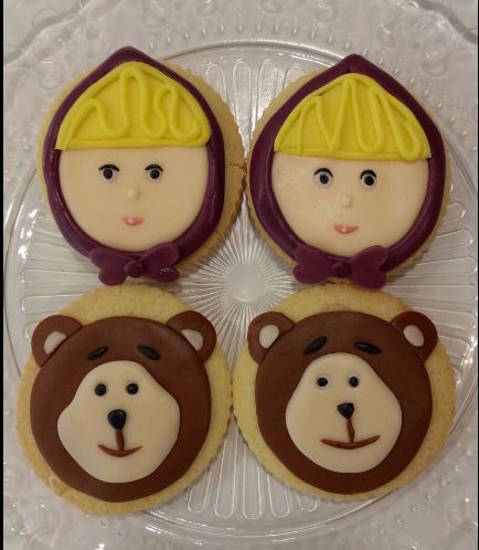 Masha & the Bear Themed Cookies