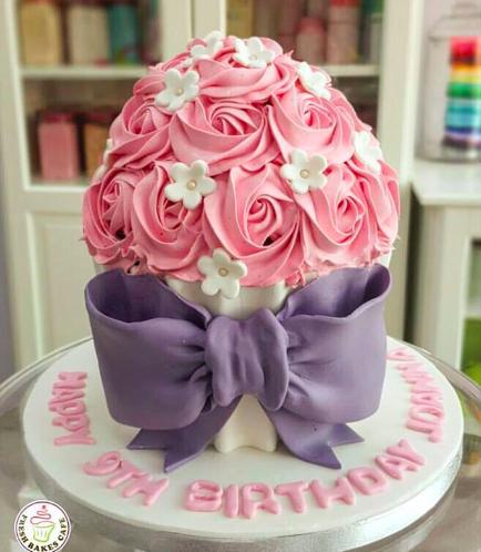 Mega Cupcake - Cream - Flowers 02