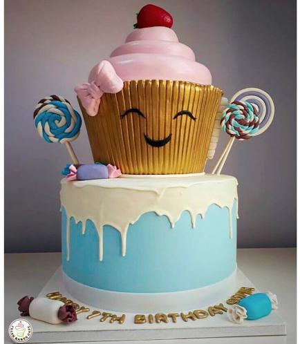 Mega Cupcake - Fondant - 2 Tier