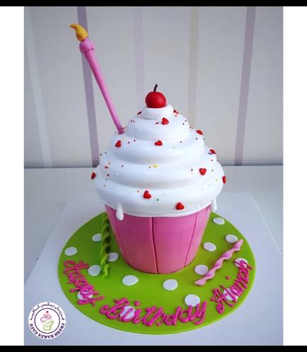 Mega Cupcake - Candle - Fondant - Pink