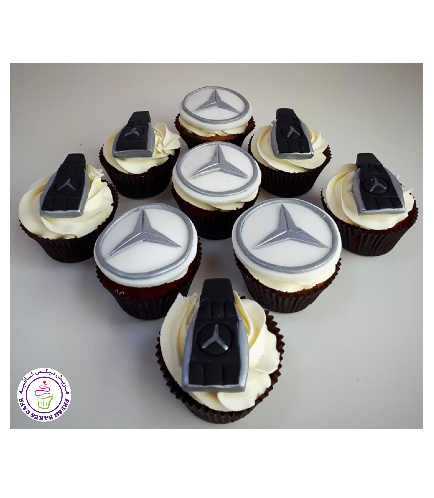 Car Themed Cupcakes - Mercedes