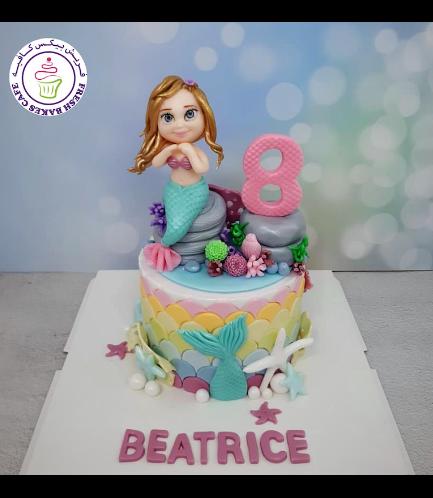 Cake - Mermaid - 3D Cake Topper - 1 Tier 12