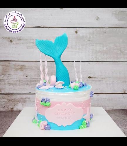 Cake - Mermaid Tail - 3D Cake Topper - Cream Cake 03a