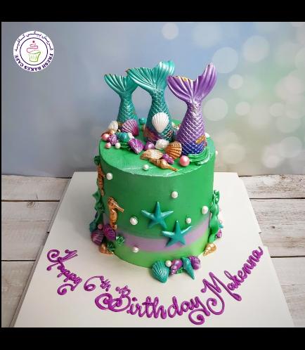 Cake - Mermaid Tail - 3D Cake Topper - Cream Cake 04
