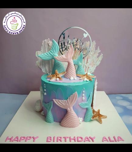 Cake - Mermaid Tail - 3D Cake Topper - Cream Cake 05